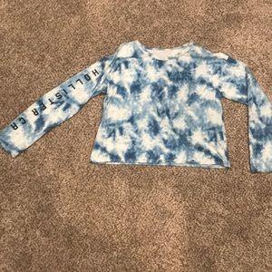 Hollister blue tie dye graphic tee